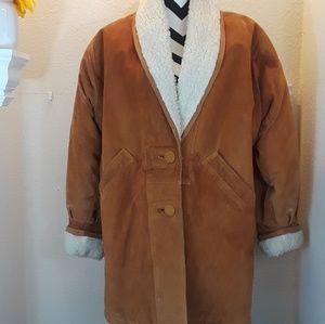 Vintage leather womens coat.